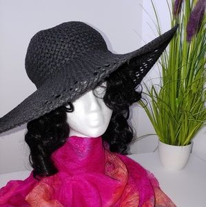 H & M Black Straw Hat by Divided